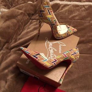 Christian Louboutin So Kate Chevron Cork Pump